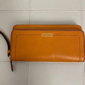 Coach Pebbled Leather Clutch / Wallet